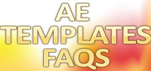 "After Effects Template FAQs ""Most Questions Are Asking"""