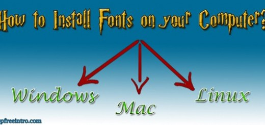 How to Install Fonts on your Computer?