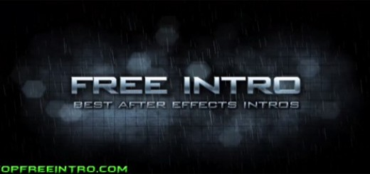 After Effects Intro Template -Dramatic Rain Intro Template-