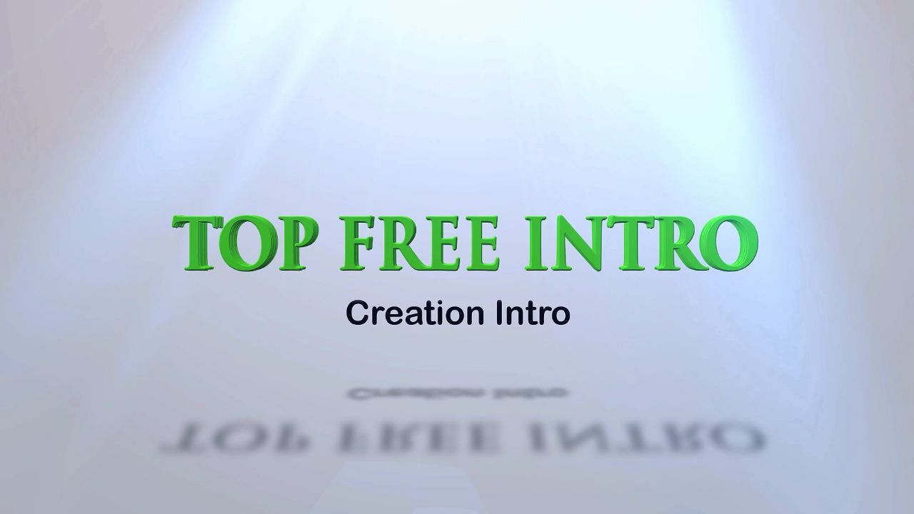 creation free intro template after efercts | topfreeintro, Powerpoint templates