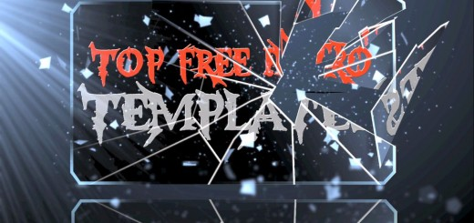 free intro templates ae glass shatter