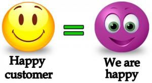 happy customer when buy video intro