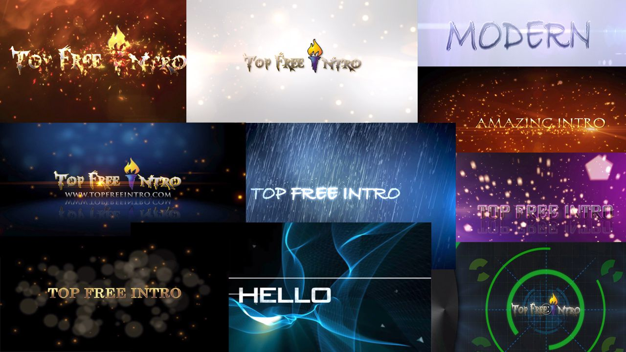 Top 10 After Effects Intro Templates No Plugins + Free ...