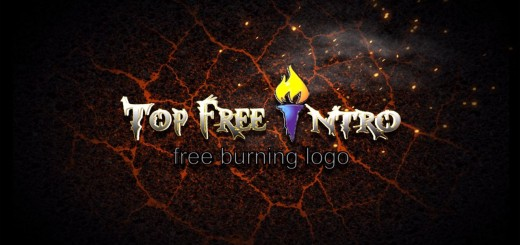 Logo Animation After Effects Intro Template Free - Burning Logo