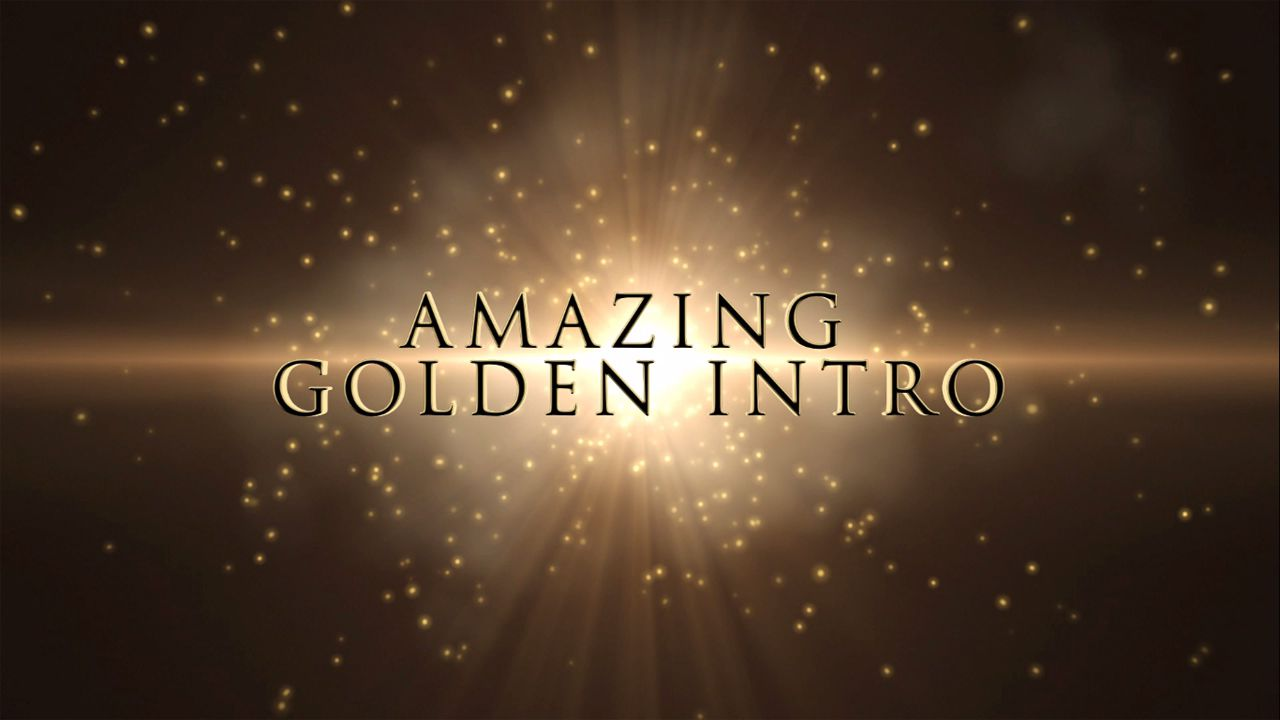 Free After Effects Intro Template - Golden | topfreeintro.com