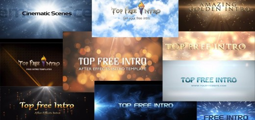 "Top 10 free intro templates ""after effects intro templates"""