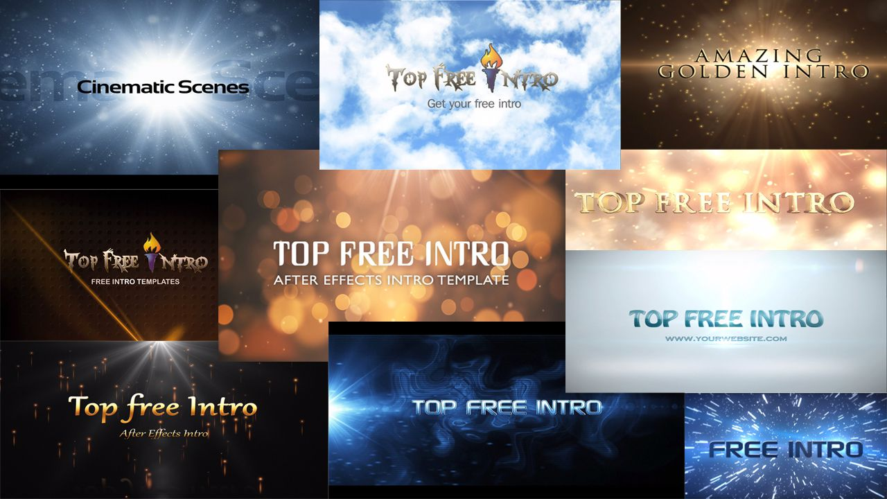 "top 10 free intro templates ""after effects intro templates, Powerpoint templates"