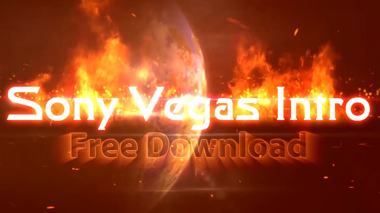 sony vegas free project templates - sony vegas intro template fire text
