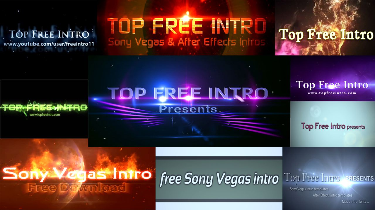 Top 10 Free Intro Templates 2016 Sony Vegas Topfreeintro