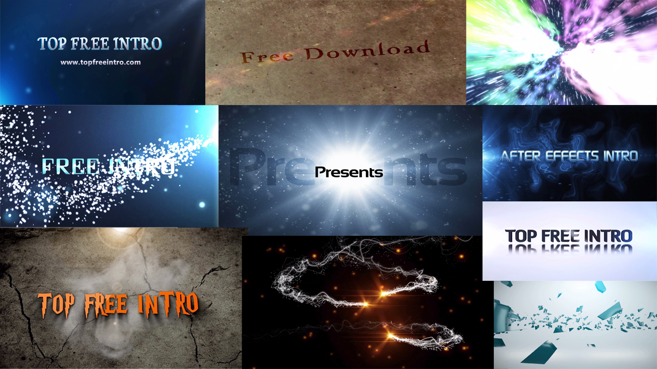 Top 10 Free Intro Templates 2016 After Effects CS6 No-Plugins ...