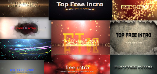 Top 10 Intro Templates No-Plugins After Effects 2016 Free Download