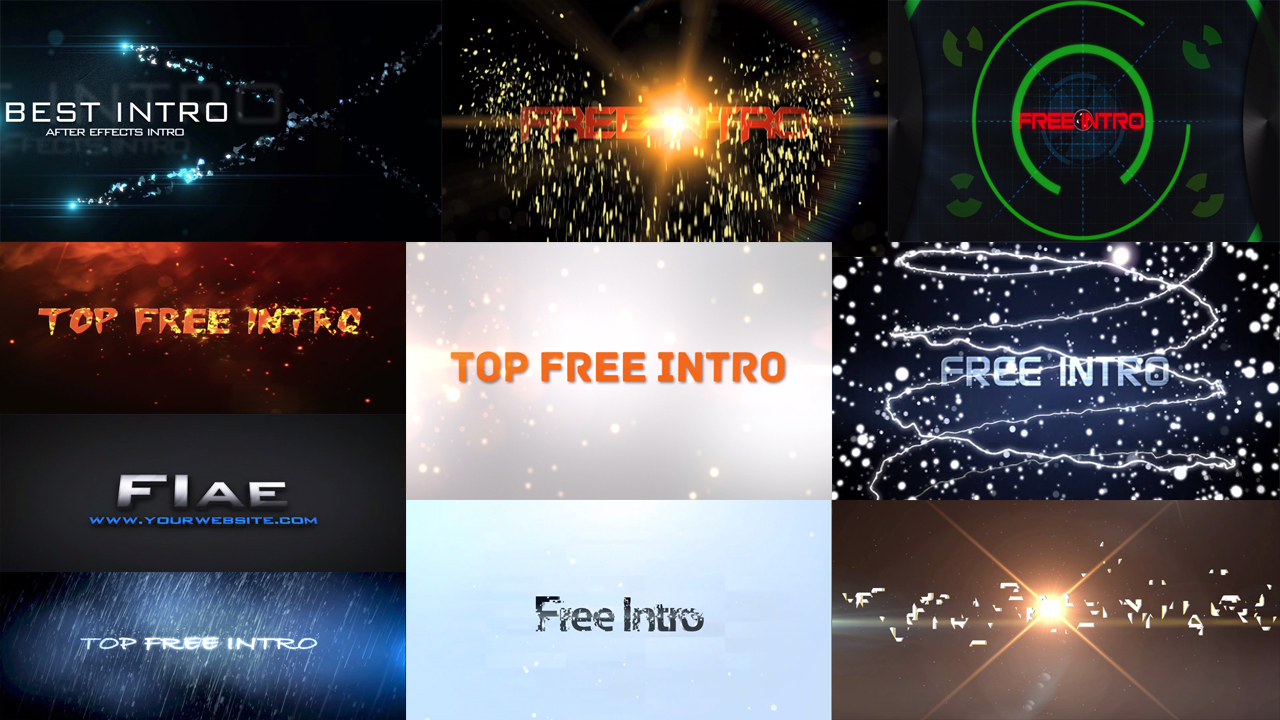 Top 10 Intro Templates 2016 After Effects CS6 No Plugins + Free ...