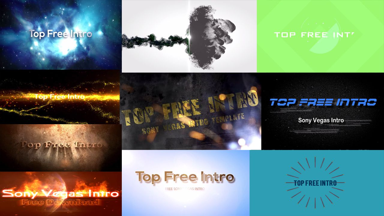 top 10 free intro templates sony vegas intro template download