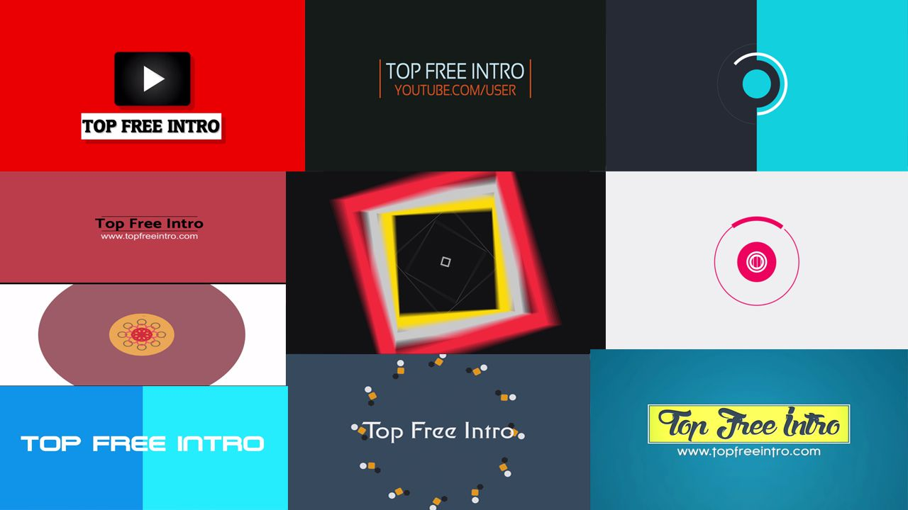 Top 10 Free 2D Intro Templates No Plugins After Effects CS6 CC ...