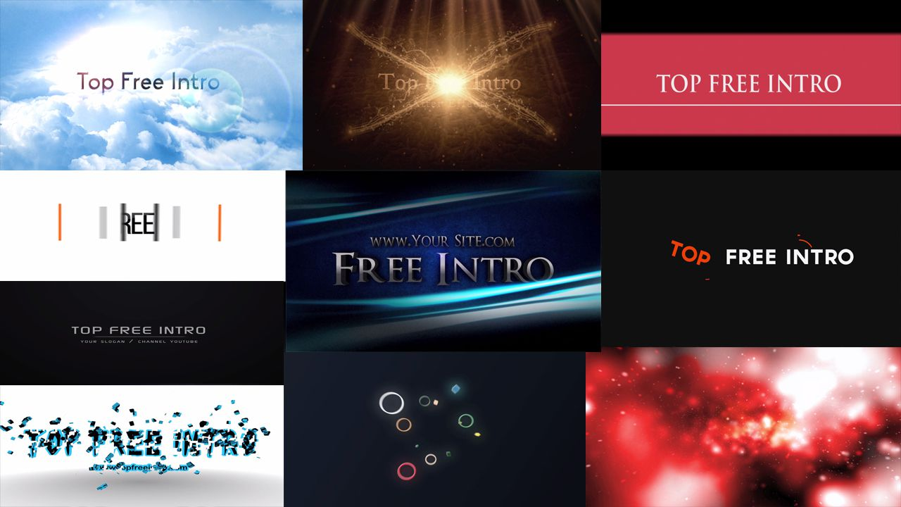 top 10 free after effects cc cs6 intro templates no plugins download