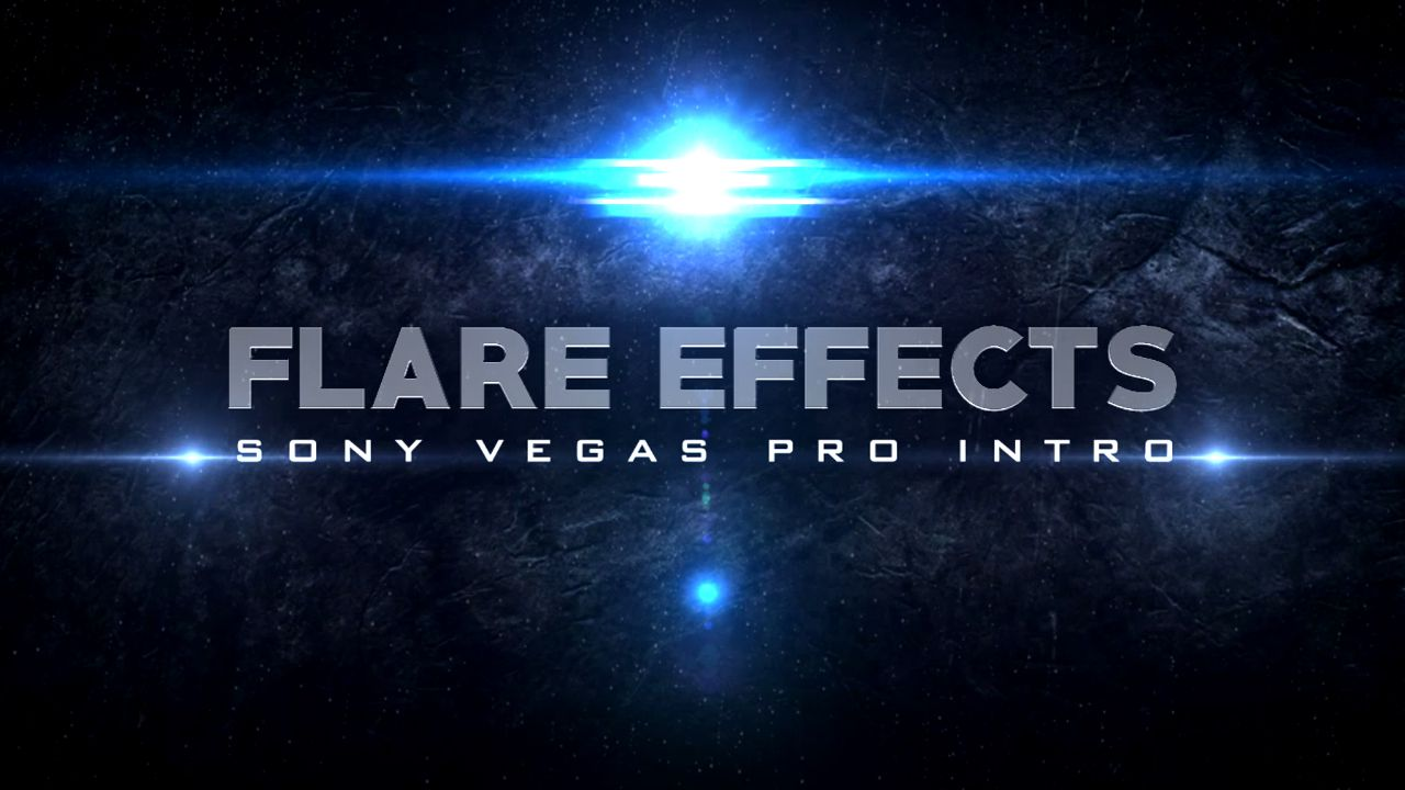 sony vegas intro template flare effects