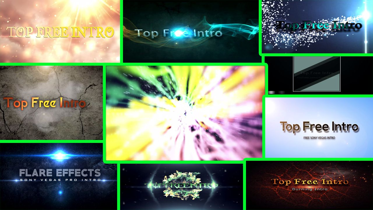 "top 10 ""sony vegas intro"" pro 14, 13, 12 free intro templates, Powerpoint templates"