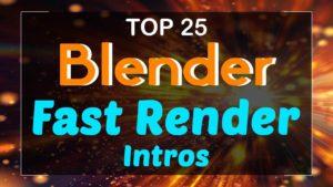 Blender Fast Render Intro Templates