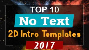 2D Intro Templates No Text