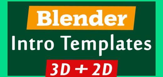 Blender 3D + 2D Intro Templates