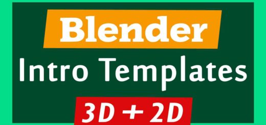 Blender 3D + 2D Intro Templates