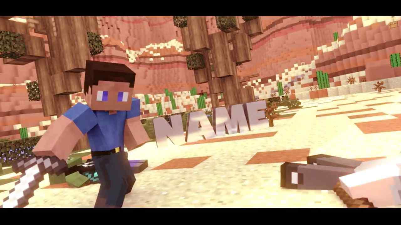 Best Minecraft Intro Template Blender Free Download 11
