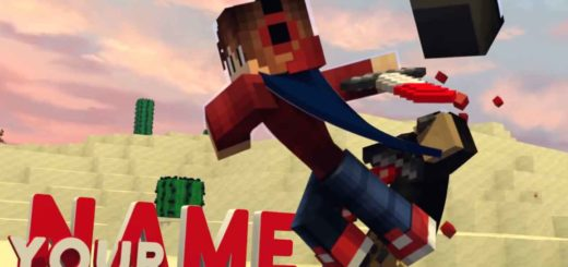 cool minecraft intro 3d template free download