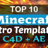 Minecraft Intro Templates C4D & AE
