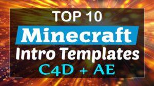 Minecraft Intro Templates C4D & AE