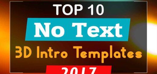 3D Intro Templates No Text