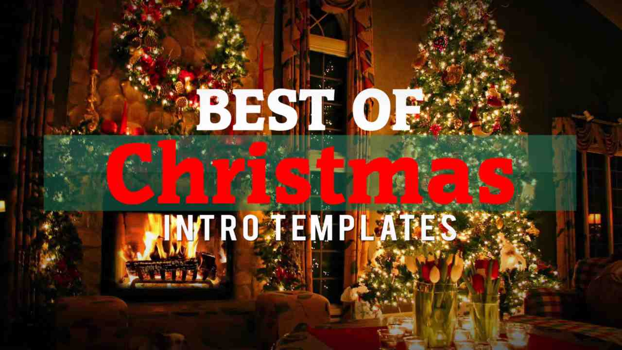 best 6 free christmas intro templates after effects, sony vegas, Powerpoint templates