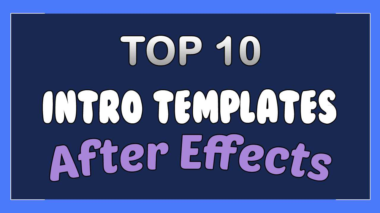 free ae intro templates no plugins
